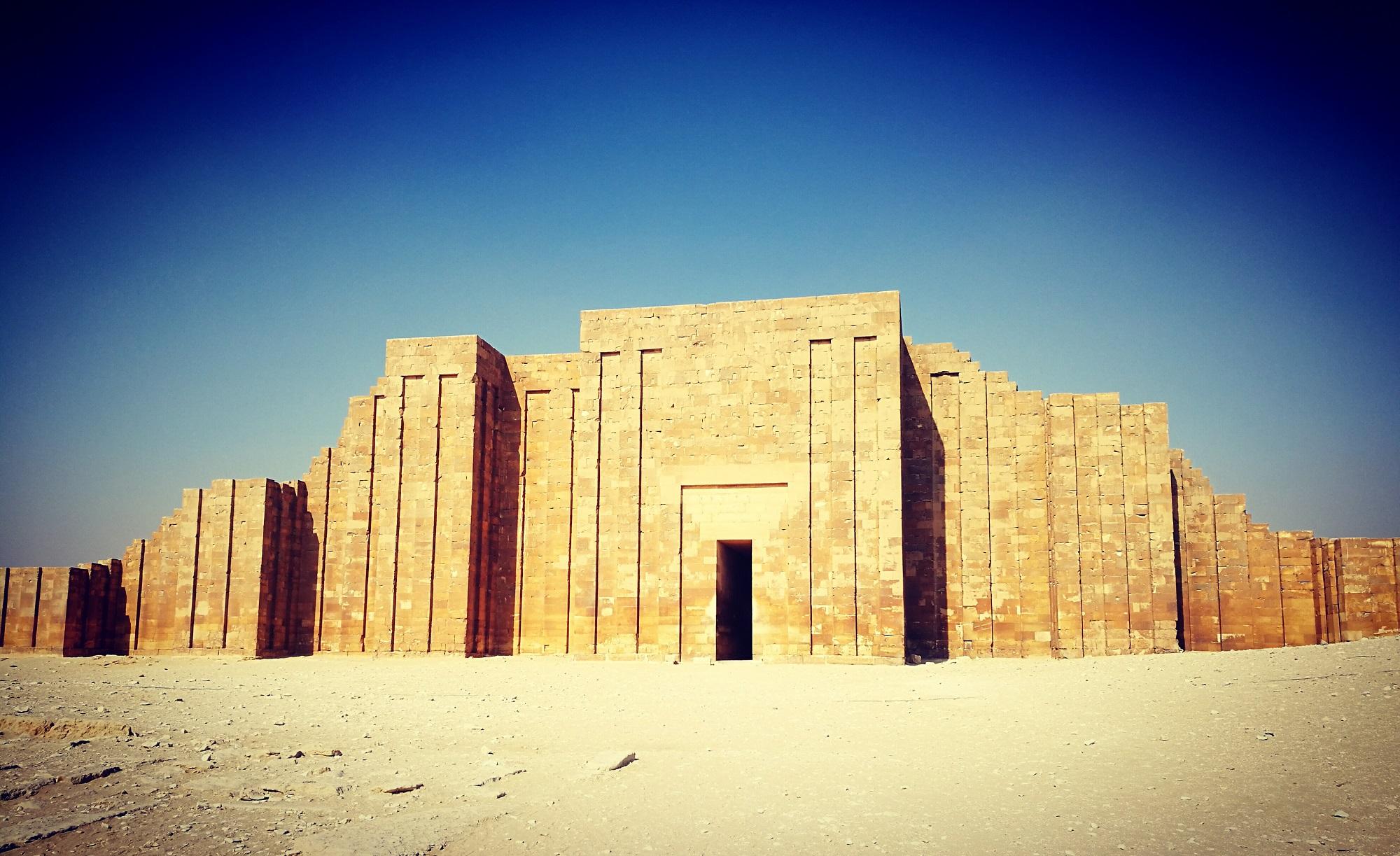 Gateway to Djoser's Pyramid Complex at Saqqara. Shutterstock.