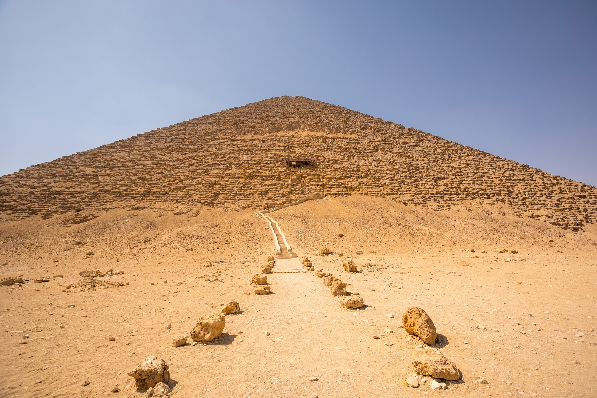 A view of Sneferu's Red Pyramid at Dahshur. Shutterstock.