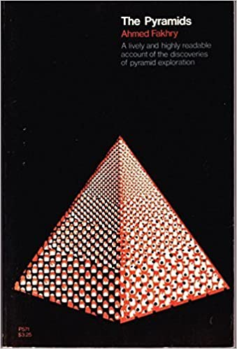 "The cover of Ahmed Fakhry's book ""The Pyramids."""