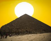 An image of the Pyramid and the Sun. Shutterstock.