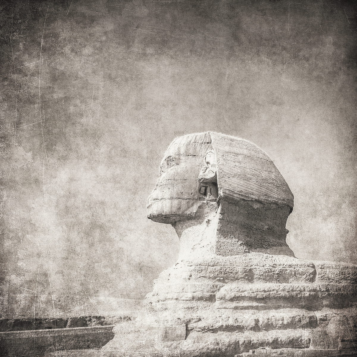 Ilustracija Egipatske Sfinge. Shutterstock.